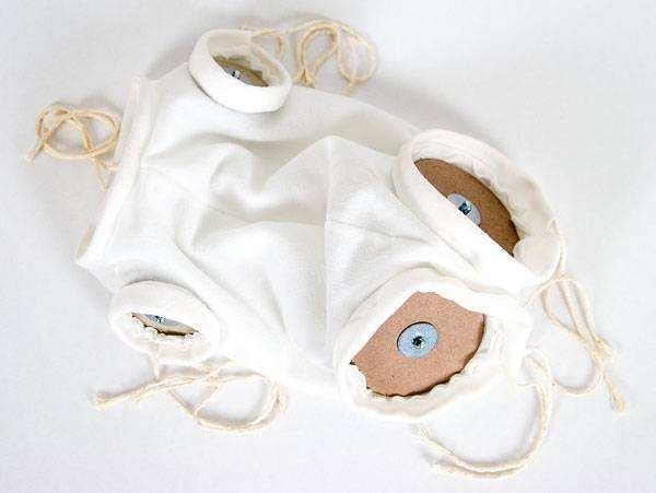 Flanellkörper für Vollvinyl-Puppen mit Gelenken
