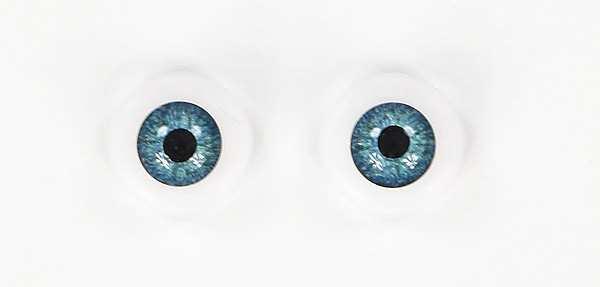 Acryl Eyes 18mm blau-grün