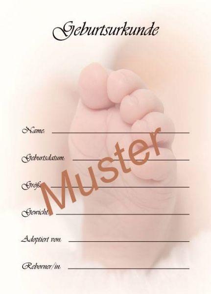 Geburtsurkunde Babyfuß