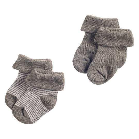 Baby socks grey set of 2