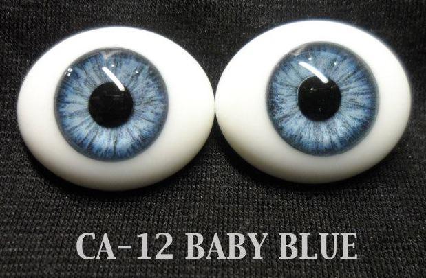 Newborn Dark Blue 18 mm  Half Round Real Eyes For Reborns ~ REBORN DOLL SUPPLIES