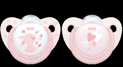 NUK Baby Rose Trendline Schnuller (2 Stück)