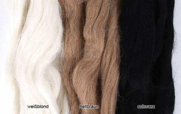 Suri Alpaka Haar weißblond