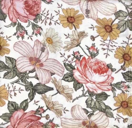 Wickeltuch - Garden Floral White