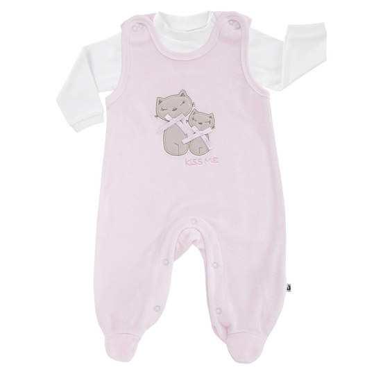 Baby-Nicki-Strampler mit Applikation & Shirt, rosa