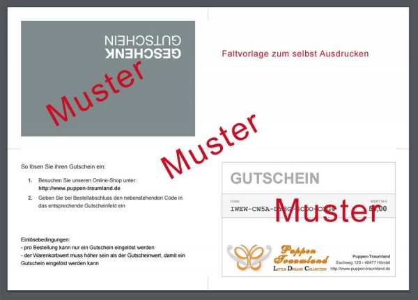 Gift Voucher about 100 Euros