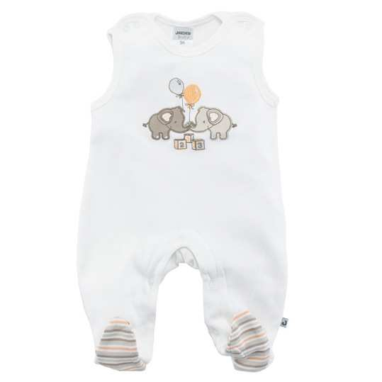 Baby romper with elephant couple